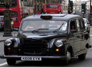 Een taxi nemen in Londen