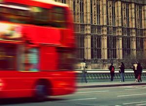 Rondrit dubbeldekker bus
